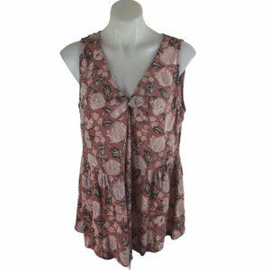 Lucky Brand Tank Top Plus 3x Pink Floral